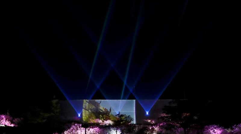 황매산 야간조명경관(사진)