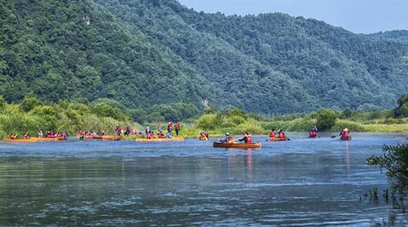 카누 체험하며 황강생태 탐방