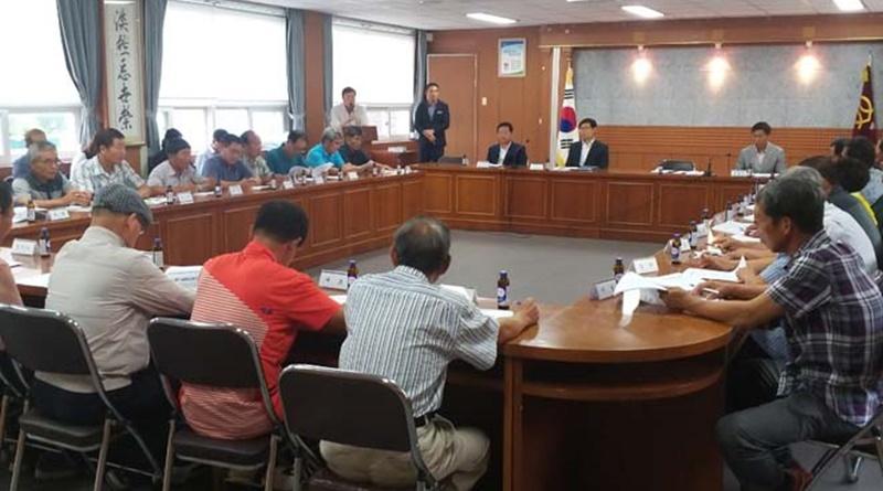 쌍백면 대야문화제 관련 회의