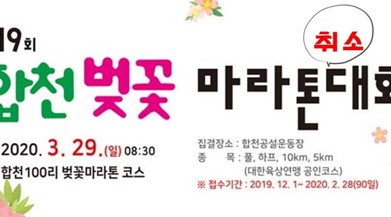 제19회 합천벚꽃마라톤대회 개최 취소결정