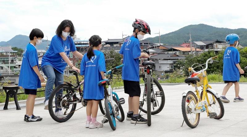 남북통일운동국민연합 합천군지회 통일염원 자전거 행진